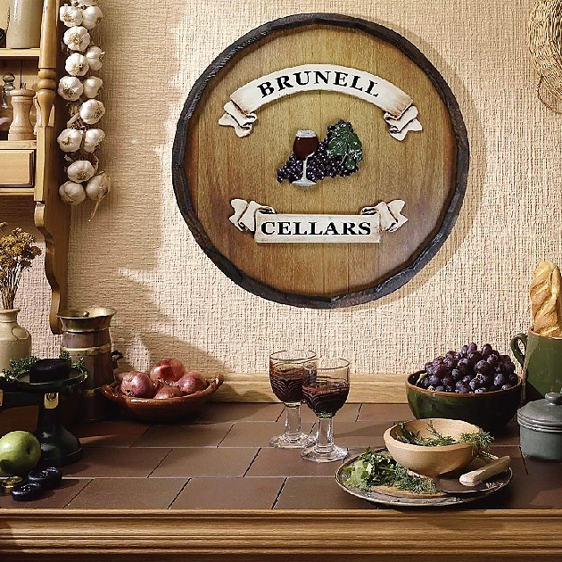 Personalized Quarter Barrel Wine Cellars Sign OBC-QBBR499