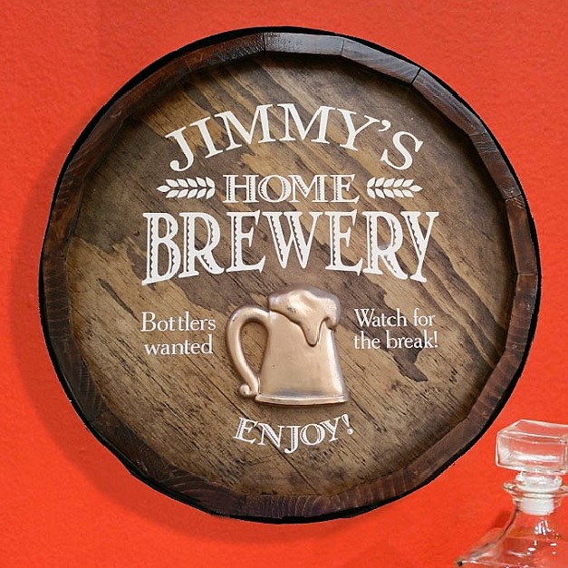 Personalized Home Brewery Quarter Barrel Sign OBC-QBX1