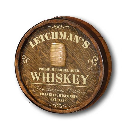 Personalized Premium Aged Whiskey Quarter Barrel Sign OBC-QBXP5