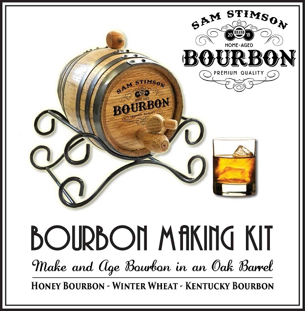 Personalized Oak Barrel Bourbon Making Kit OBC-TBC-B831