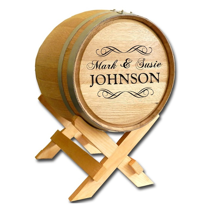 Personalized 5 Gallon Oak Barrel For Wedding Cards OBC-WEDDING-5G