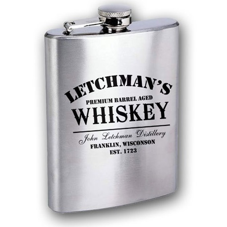 Personalized 6oz Whiskey Flask OBC-WF-P5