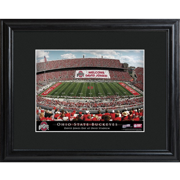 Ohio State Buckeyes Stadium Custom Framed Print Ohio StateSta
