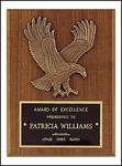 Engraved Sculptured Eagle Plaque P1784