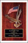 Eagle and Flag Award Plaque P2394