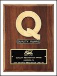 Gold Plated Finish Walnut Plaque P2575