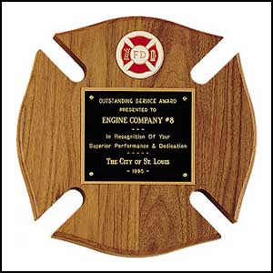 Firefighter Maltese Cross Award Plaque P2790-X