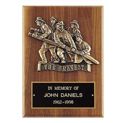 Bronze Casting Firefighter Award Plaque