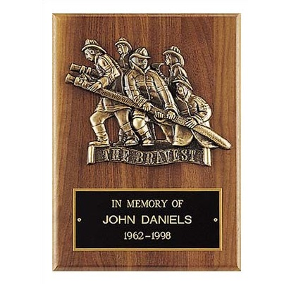 Bronze Casting Firefighter Award Plaque P3-X