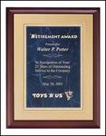 Gold Border Cherry Award Plaque P3556