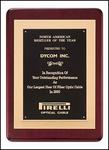 Gold Embossed Rosewood Plaque P3629