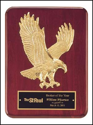 Goldtone Eagle Casting Plaque P3749