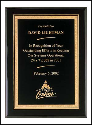 Black Piano Finish Plaque P3817