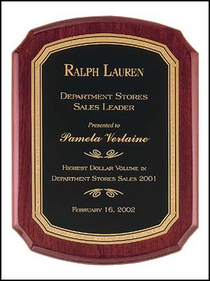 Florentine Border Piano Finish Plaque P3830