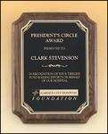 Walnut Sunburst Award Plaque P4126