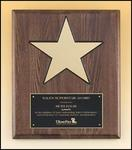 Star Walnut Award Plaque P4135