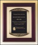 Rosewood Framed Engraved Plaque P4139