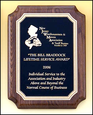 Notched Corner Award Plaque P4311