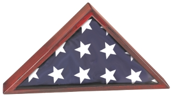 Memorial Flag Display Case Made With Rosewood PFC25