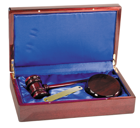 Rosewood Gavel Boxed Set PFDS10