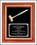 Walnut Framed Gold Gavel Award PG2442