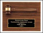 Walnut Gavel Plaque PG2782