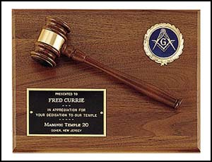 Gavel Plaque With Activity Insert PG2784-X