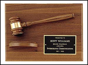 Engraved Gavel Plaque PG2786