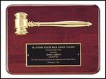 Gold Gavel Rosewood Plaque PG3751