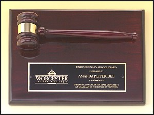 Rosewood Gavel Plaque PG4470