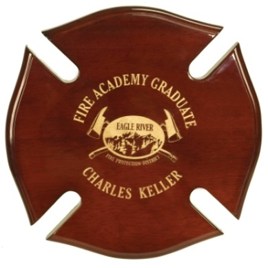 Firefighter Maltese Cross Made With Rosewood PSH22