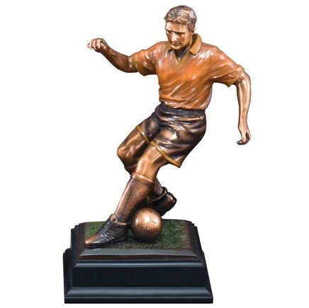 Custom 13.5 Soccer Player Resin Statue RFB003