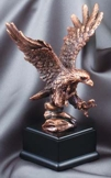 Bronze Eagle Landing Scupture RFB011