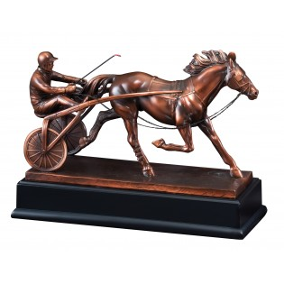 Sulky Racer Bronze Horse Statue RFB031