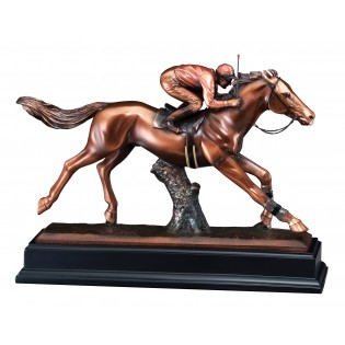 Jockey and Horse Bronze Statue RFB037
