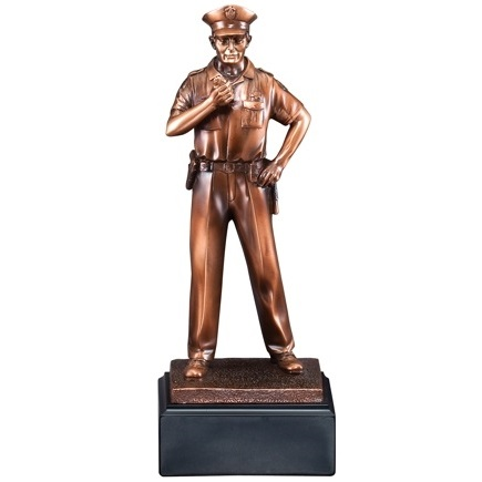Always Ready Bronze Resin Police Statue Award RFB058