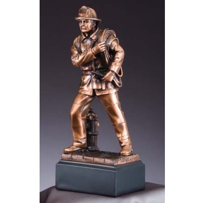 Firefighter Award: Bronze Firefighter Statue RFB059