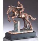 Equestrian Show Jumping Bronze Horse Statue RFB076