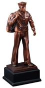 Coming Home Navy Resin Statue RFB132