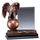 Bronze Eagle Statue Stand On Bronze Globe RFB157