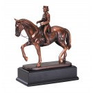 Female Dressage Bronze Horse Statue RFB191F