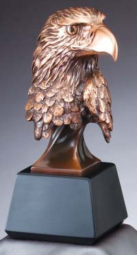 Bronze Eagle Head Statue On Black Base RFB537