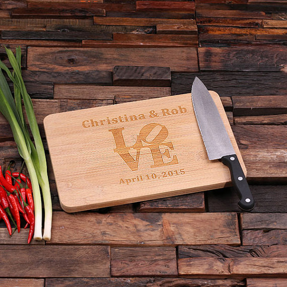 Engraved Bamboo Wedding Love Cutting Board TP-024186_00019