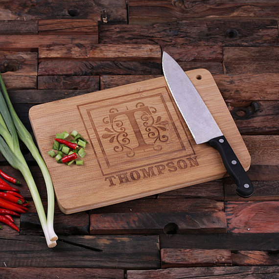 Engraved Bamboo Family Monogram Cutting Board TP-024186_00028