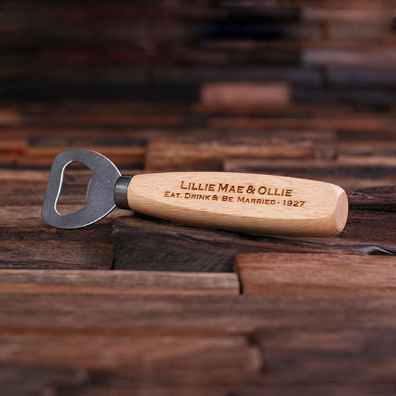 Engraved Wood Bottle Opener TP-024237