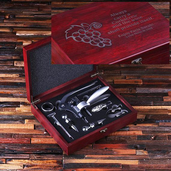 Personalized 7 Piece Wine Accessory Toolkit TP-024311