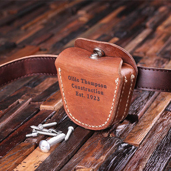 Engraved Leather Tool Belt Pouch TP-024419