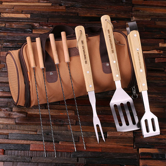 Personalized 8pc Bbq Grill Set With Case TP-024760