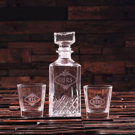 Engraved 28oz Decanter Set With Glasses TP-024770_HH