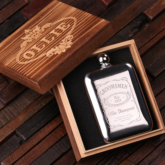 Engraved Ole Jack Ball Tip 6oz Flask TP-024841